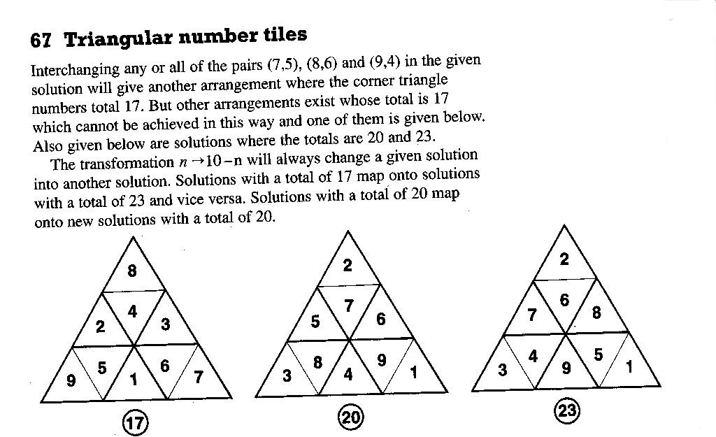 4. TRIANGULAR NUMBER TILES The thinking behind this solution is maximizing the sum.