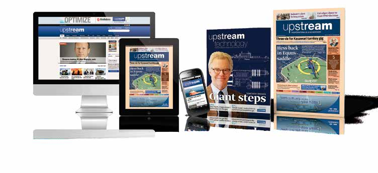 It gives you exclusive and comprehensive oil & gas news, every week in Upstream s newspaper and around the clock at UpstreamOnline.com. You get unlimited access to our archive and the Upstream App, and you get the sleek bimonthly magazine Upstream Technology.