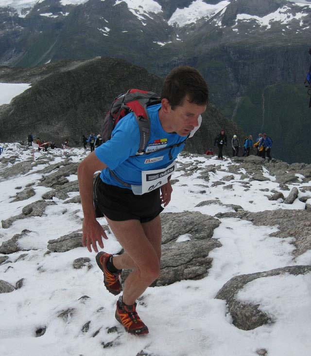 Jonathan Wyatt, New Zealand, representing Team Salomon Austria, won the Skaala Uphill Race in 2008