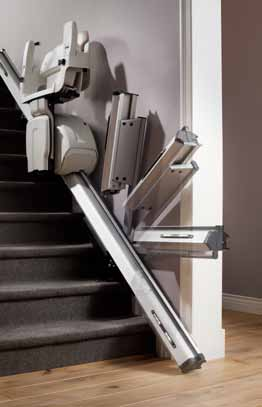 optional features to call or send the stair lift to the up or downstairs landing.