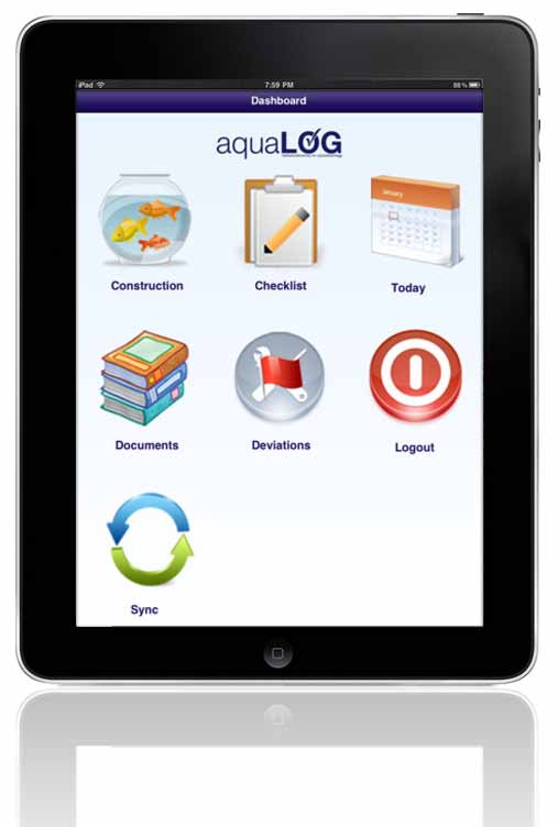 AquaLog på ipad Ta bilde med ipaden! Du kan registrere data i AquaLog med ipad eller PC. Data overføres inn i AquaLog databasen via WiFi med automatisk synkronisering.