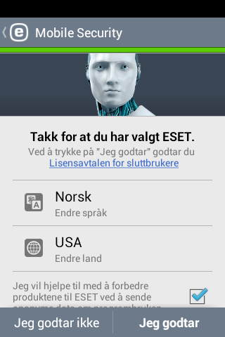 2. Installasjon For å installere ESET Mobile Security, bruk én av følgende metoder.