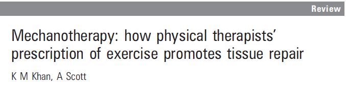 respons The effect of exercise Eccentric exercise, Khan &Scott 2009 Wall ME et al 2005,