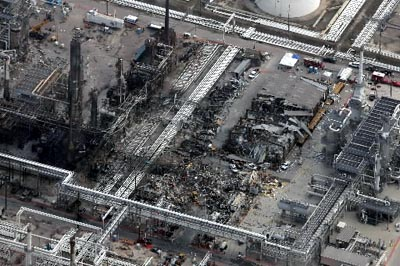 The Texas City Disaster (March 2005) The combination of cust-cutting, production pressure and failure to invest caused a progressive deterioration of safety at the refinery 1.