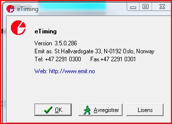 "Endre ""Save for use with:"" fra Windows95 til Windows 3.1 and windows 95/nt Registrer lisensen Første gang programmet startes må det registreres."