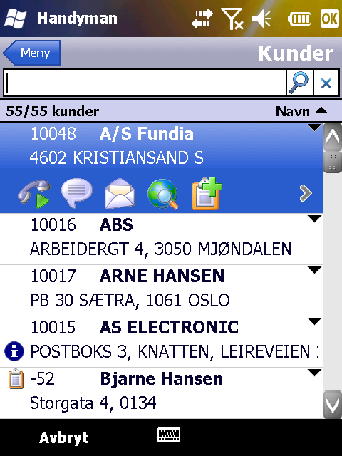 epocket Handyman Mobile - 4 Oversikt over menyene 4.