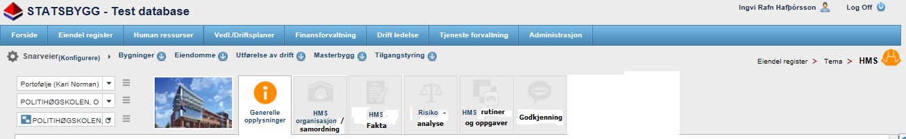 Probability Exampel of interaction between the Health & safety portal and the O&M planning For each field in the table one has to choose the risk value Lov og forskrifter Instrukser/ veiledninger