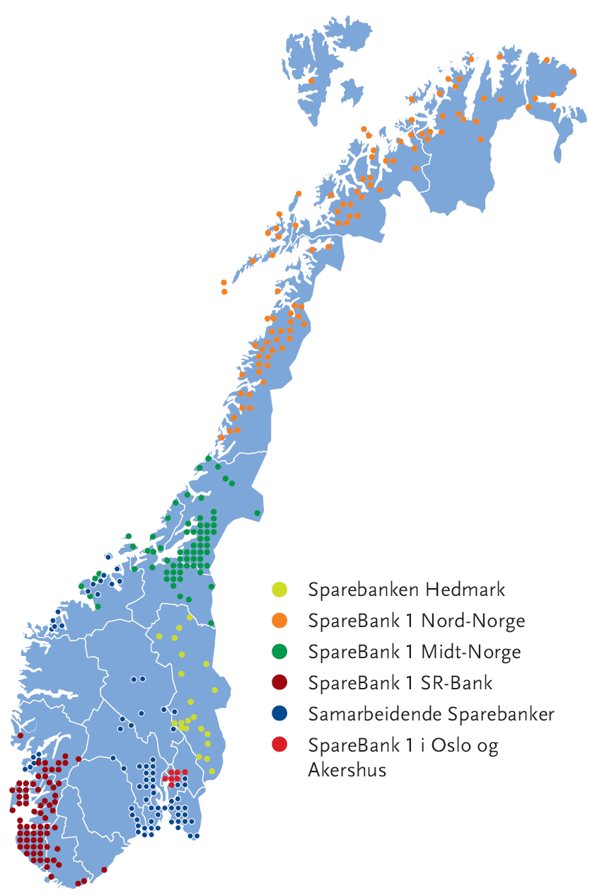 SpareBank 1 - alliance Strong alliance of Norwegian retail banks Founded 1996 - Economies of Scale - key banks in the Alliance trace their history back to the 1820 s Local presence Norway s most