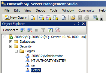 Tilgang fra lokalnett Start SQL Server Configuration Manager. Kontroller at TCP/IP er enabled og at SQL Server Browser er startet. Åpne i brannmur eller slå den av.