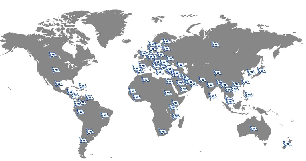 WMS The Worlds largest maritime network ~ 400 operational offices ~ 75 countries ~ 5 600 onshore employees ~ 11 000 seafarers