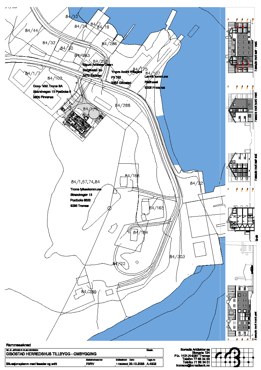 Arealplan for Gibostad Herredsgård og