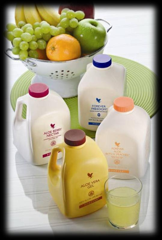 Aloe Vera Gel, Berry & Peaches Holder magen i form Forbedrer opptaket av vitaminer og balanserer mage/tarmsystemet;