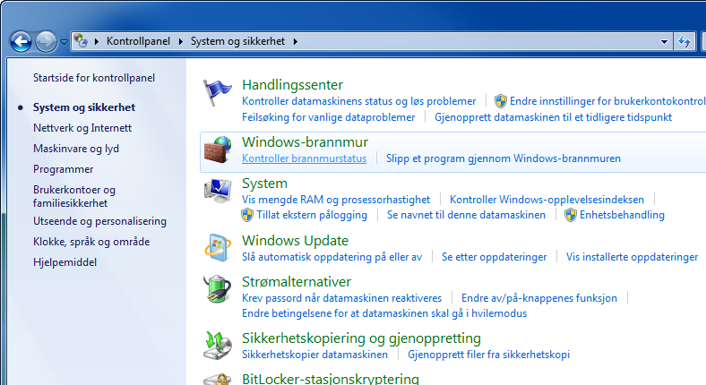 Klargjøring for bruk Konfigurerer Windows-brannmur (for Windows 7) Tillat deling av filer og skrivere og sett porten som brukes for SMB-overføring.