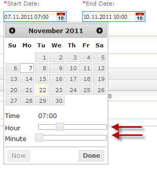 Time & Date Tid & Dato Click the date section in order to display Calendar Change month by using the black arrows in the top section You may use the cursor to choose day in month In the bottom