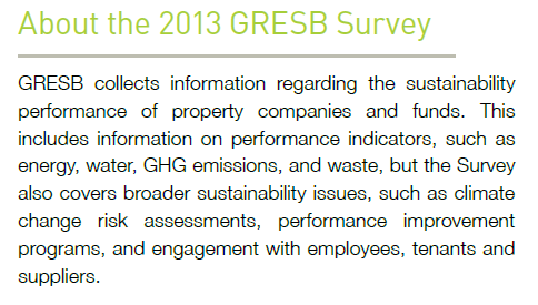 GRESB Global Real Estate Sustainability Benchmark I forbindelse med at en tung europeisk investor,