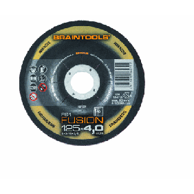 FS1 FUSION Combines the fine surface of a flap disc with the long life time of a resinoid grinding disc.