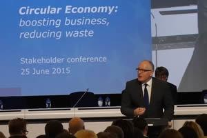 CLOSING THE LOOP - Circular Economy: Closing the loop: boosting business, reducing waste FVP Frans Timmermans giving an opening