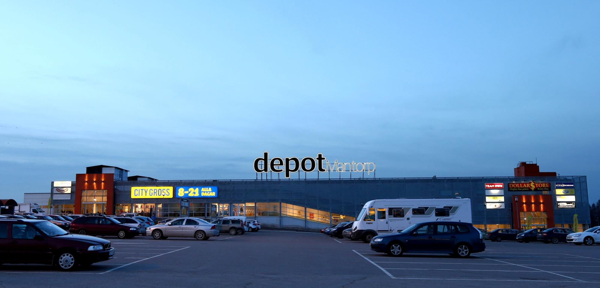 Depot Mantorp, Shopping center in Sweden Depot Mantorp Sale of shopping centre for Wahl Eiendom and other