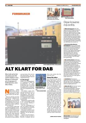 ALT KLART FOR DAB Haugesunds Avis, 24.03.
