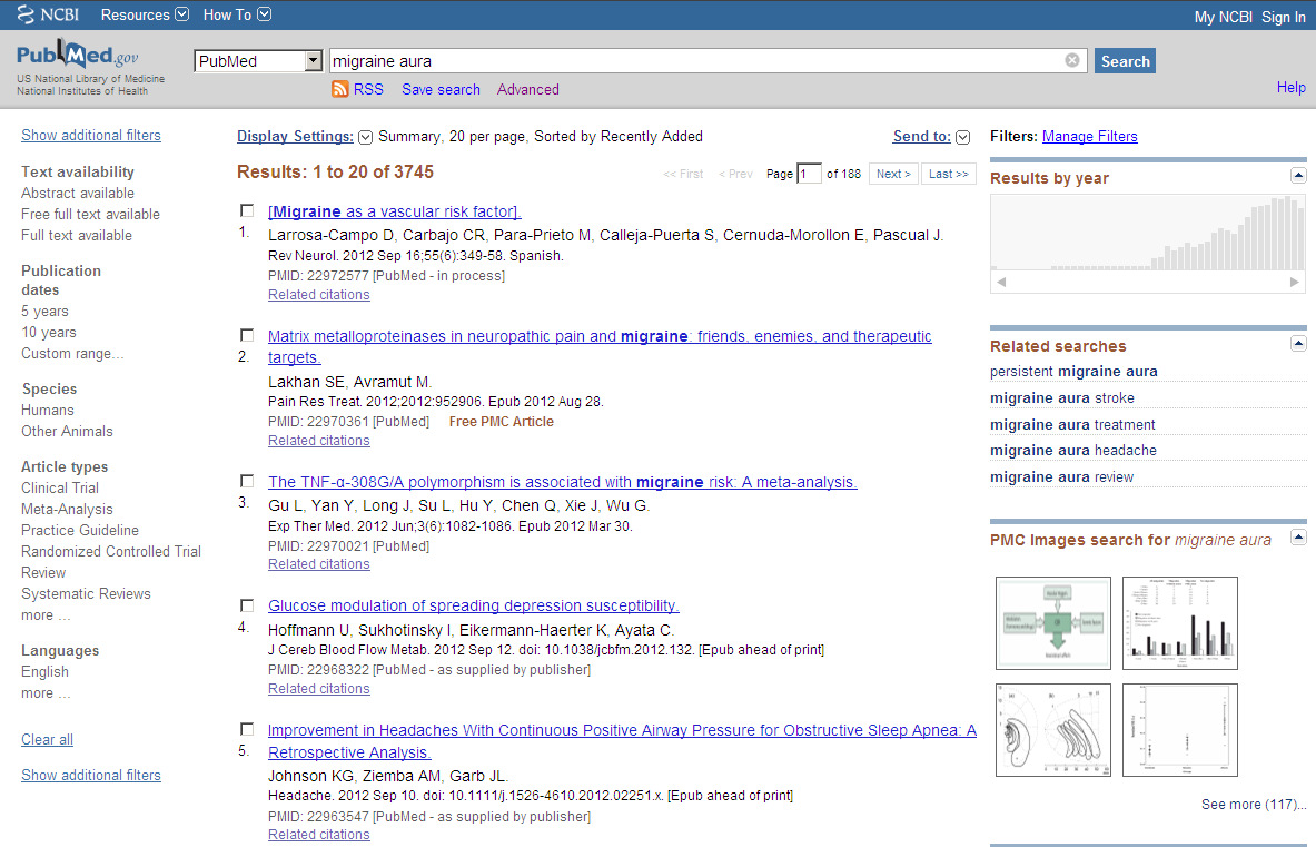 PubMed MeSH Gratisversjon av Medline National Library of Medicine, USA ca. 5400 medisinske tidsskrifter over 22 mill.