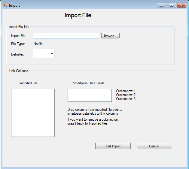 6. When back in the first picture review the information and click import into SmartPass.