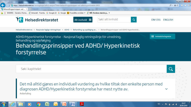 Klinefelter og ADD/ADHD Utredning - diagnostikk og behandling av ADD /ADHD ved