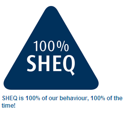 100% SHEQ (Safety, Health, Environment and Quality - HMS