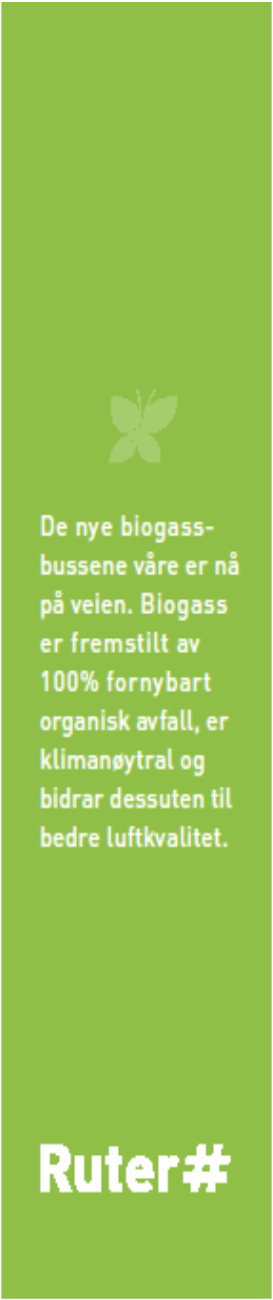 Advertisement Sommerfugl Ruters egen