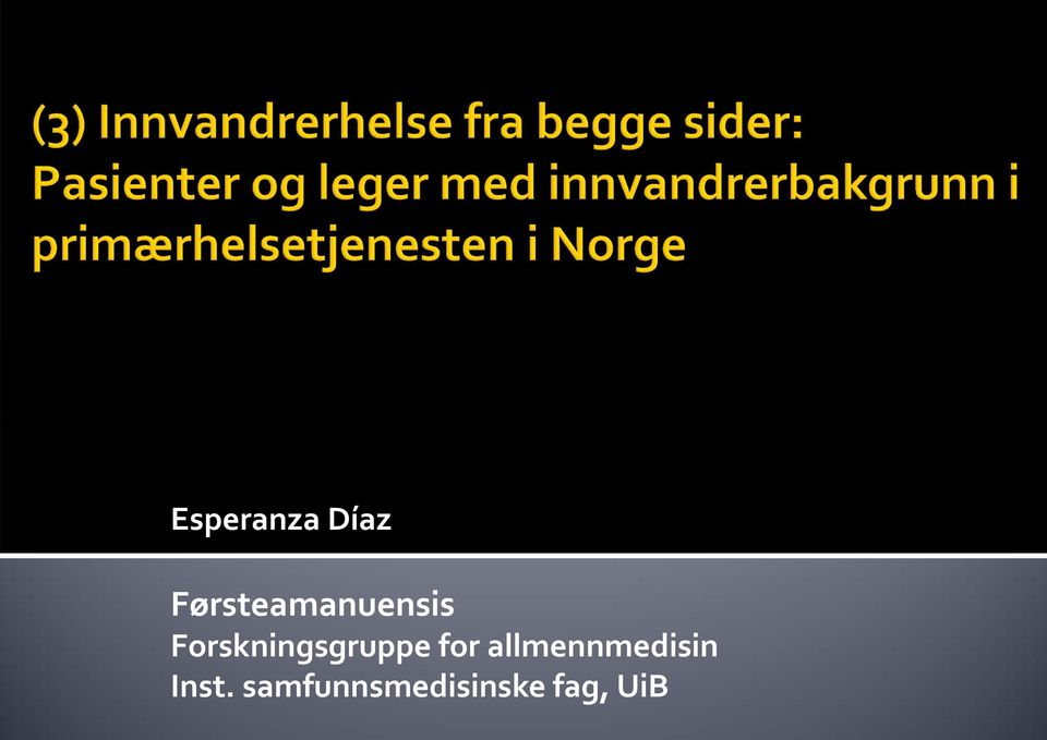 Forskningsgruppe for