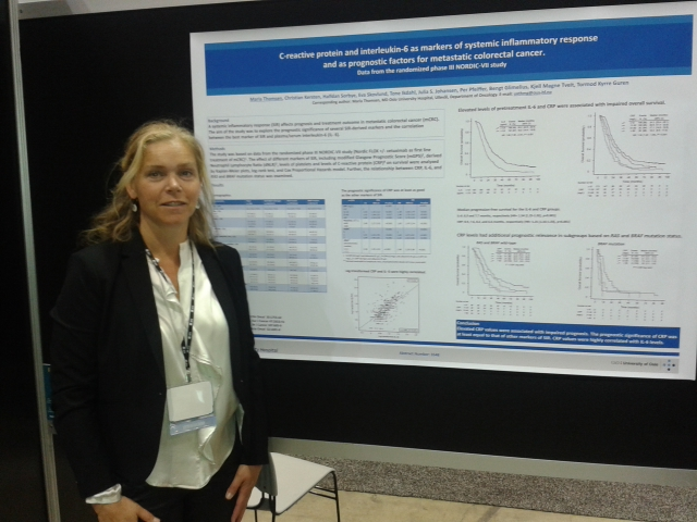 Maria Thomsen Overlege og smpendiat Avd for krefbehandling OUS C- reacmve protein and interleukin- 6 as markers of systemic