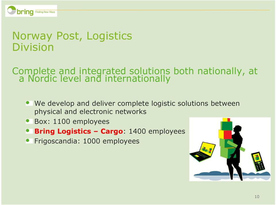 complete logistic solutions between physical and electronic networks Box: