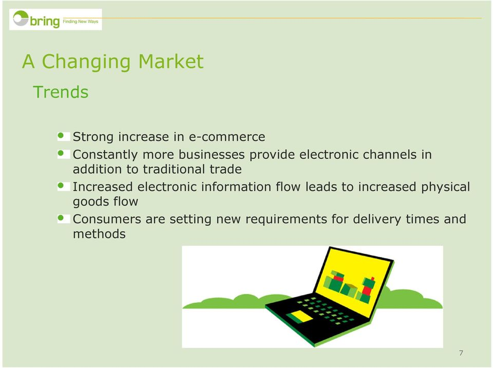 Increased electronic information flow leads to increased physical goods