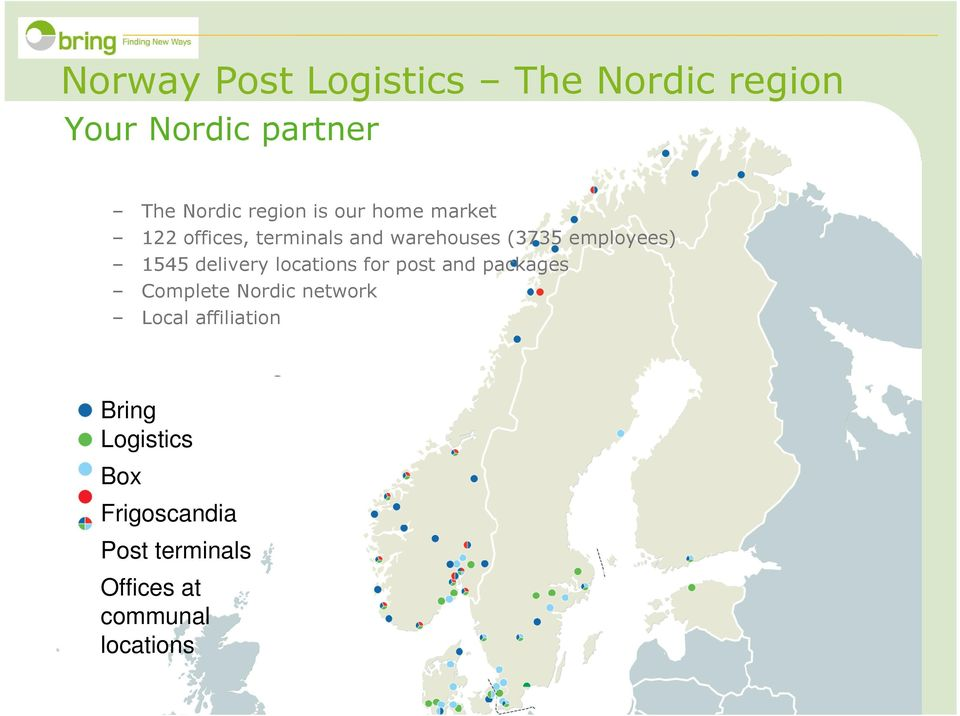 delivery locations for post and packages Complete Nordic network Local