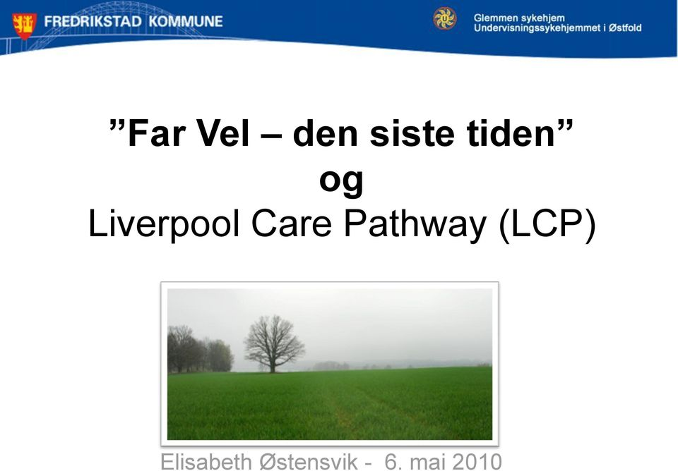 Care Pathway (LCP)