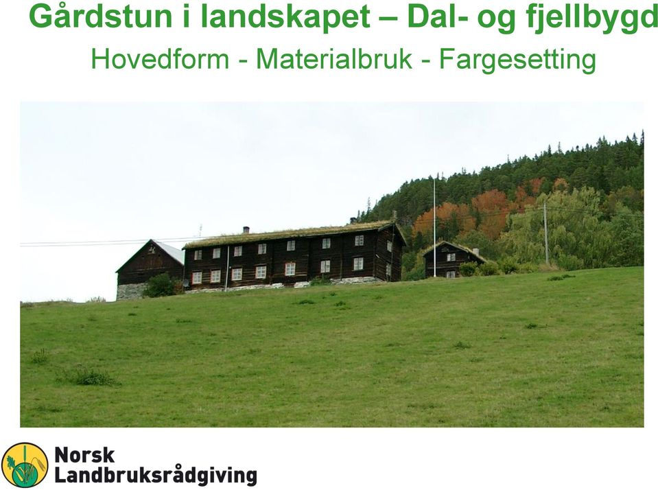 fjellbygd Hovedform