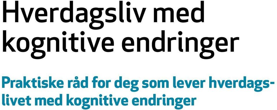 for deg som lever hverdags