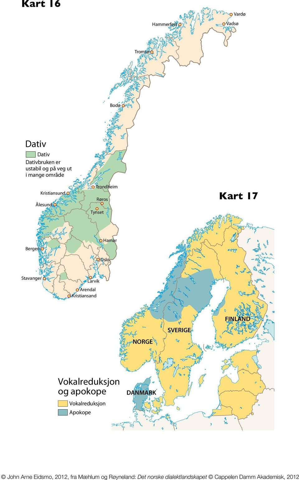 Trying To Map The Dative Case In North Germanic Dialects Did I Do - Norway map hamar