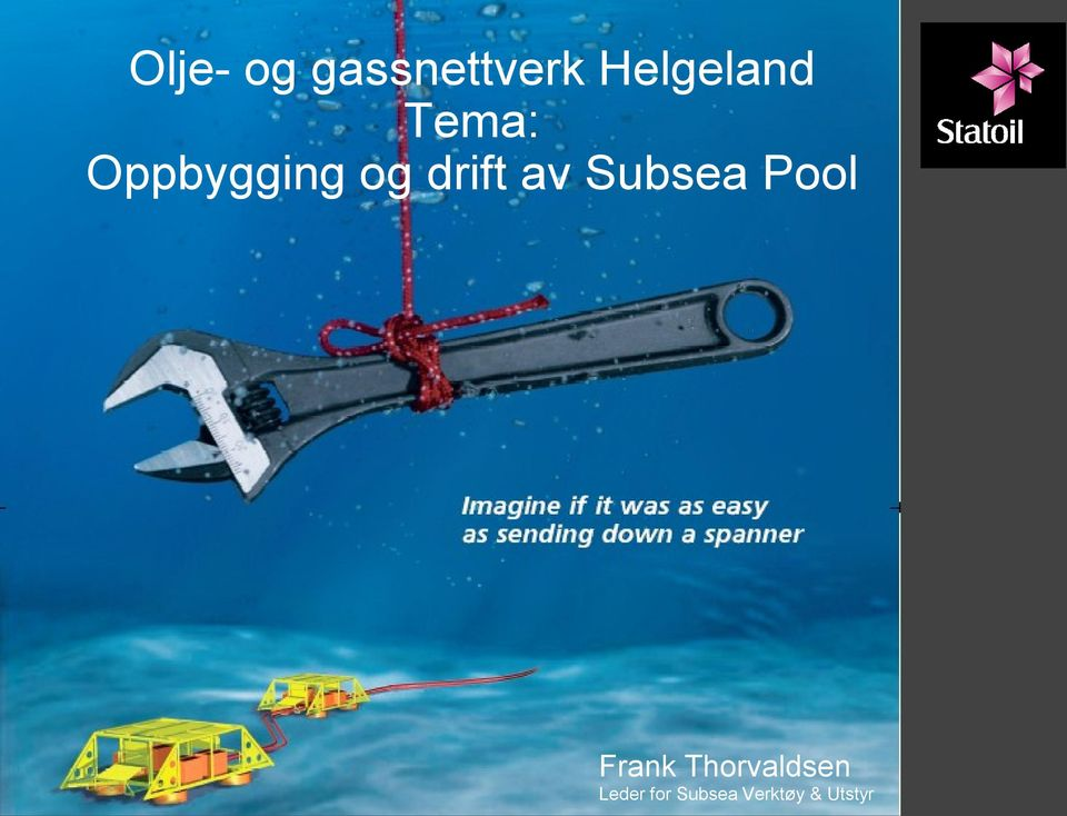 drift av Subsea Pool Frank