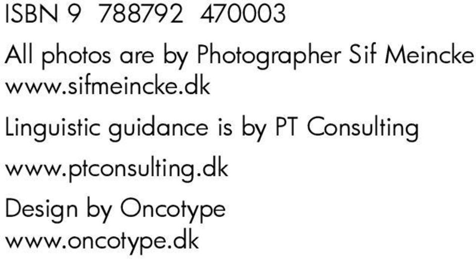dk Linguistic guidance is by PT Consulting