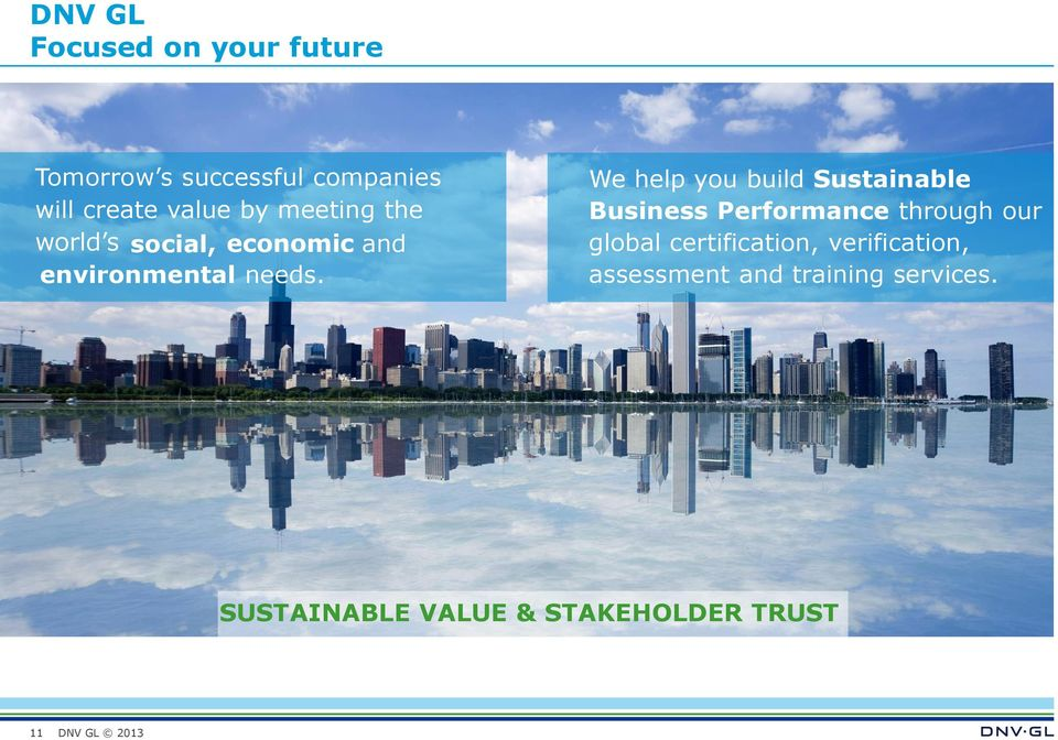 We help you build Sustainable Business Performance through our global