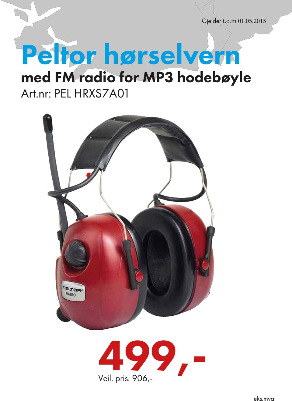 radio for MP3 hodebøyle Art.