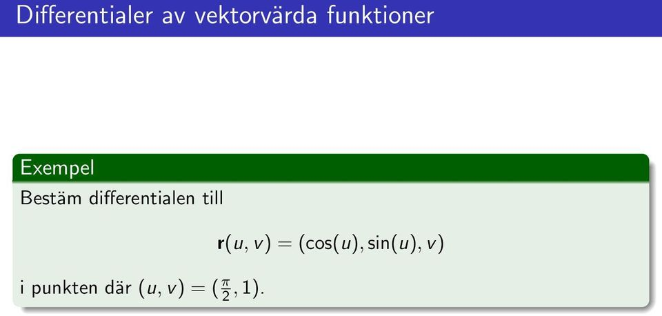 differentialen till r(u, v) =