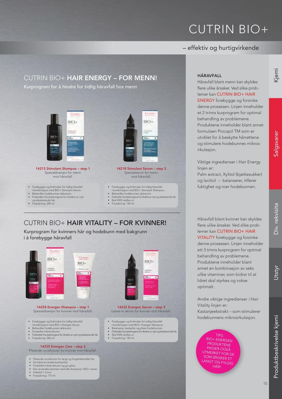 Forpakning: 200 ml. Cutrin Bio+ HAIR VITALITY FOR KVINNER!