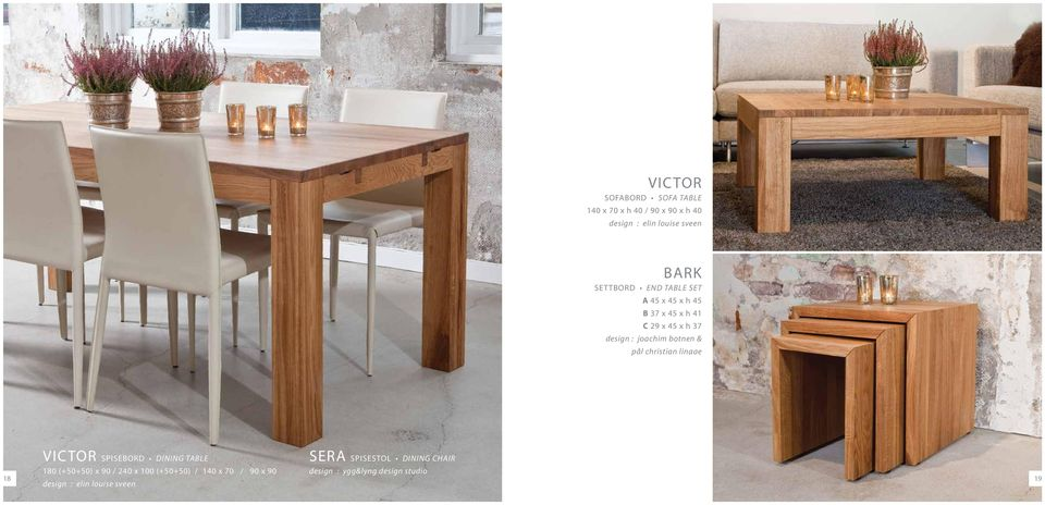 pål christian linaae Victor DINING TABLE 1 (++) x / 2 x (++) / 1 x