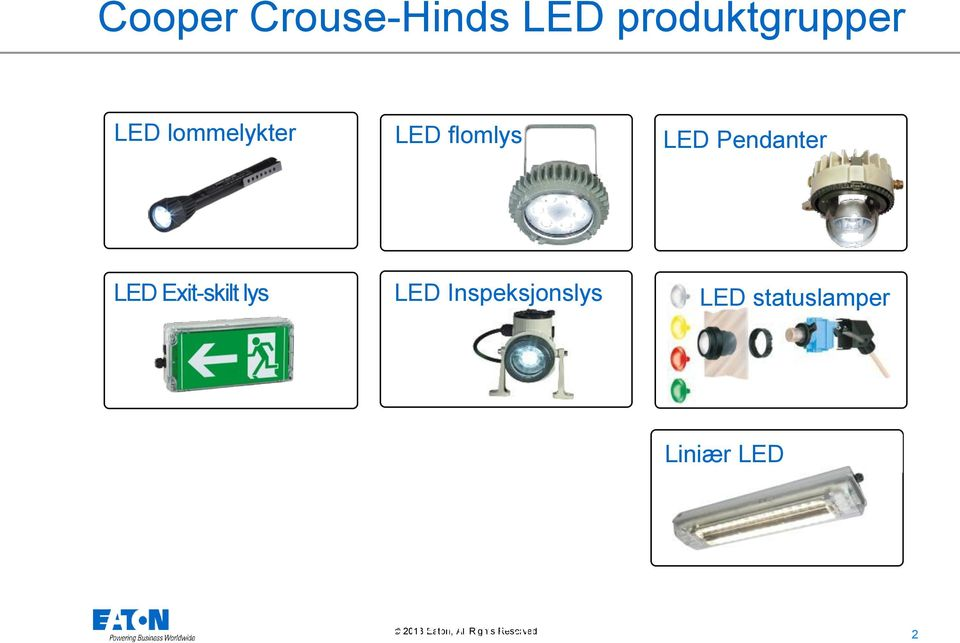 flomlys LED Pendanter LED Exit-skilt