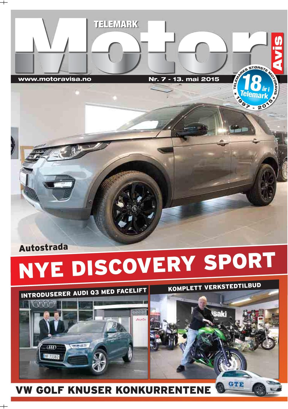 9 7-2 0 1 5 Autostrada NYE DISCOVERY SPORT INTRODUSERER