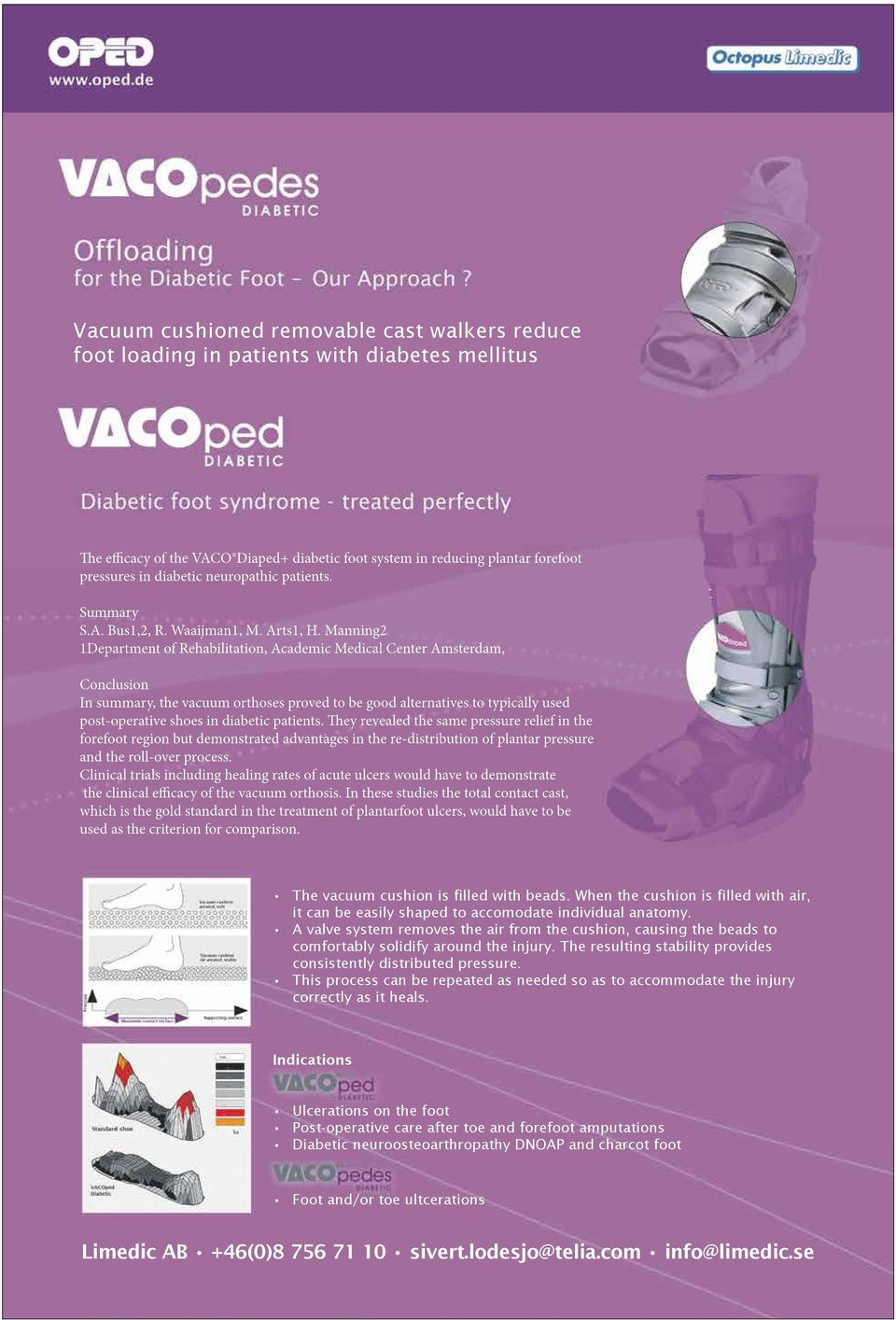 Manning2 1Department of Rehabilitation, Academic Medical Center Amsterdam, Conclusion In summary, the vacuum orthoses proved to be good alternatives to typically used post-operative shoes in diabetic