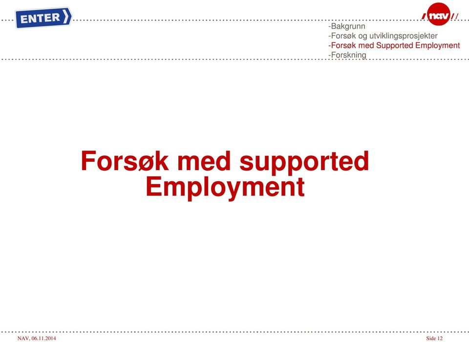 Supported Employment -Forskning