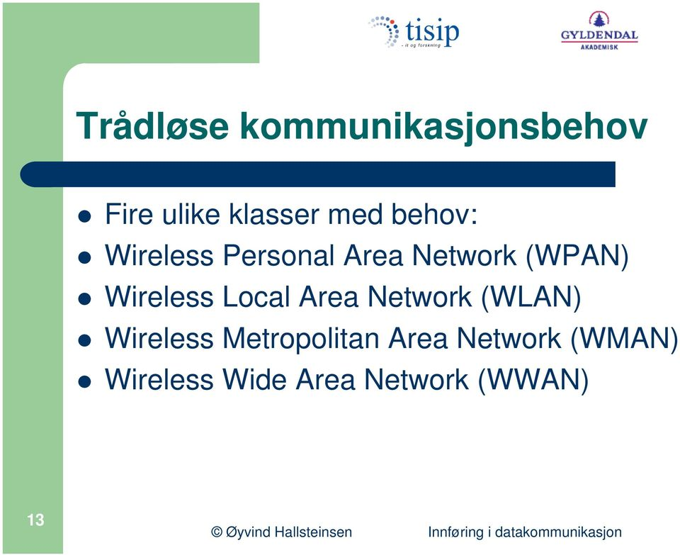 Wireless Local Area Network (WLAN) Wireless