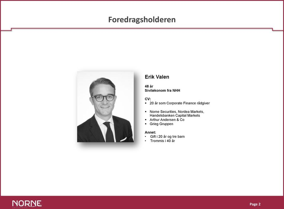 Markets, Handelsbanken Capital Markets Arthur Andersen & Co